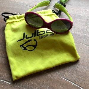 Infant Julbo Sunglasses (fuschia/ green)